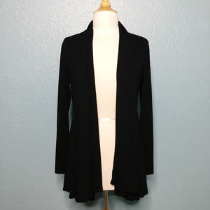 Eileen Fisher | Skirted Black Lightweight Cardigan